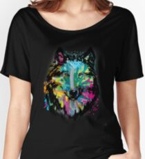 Colorful Lone Wolf  Women's Relaxed Fit T-Shirt