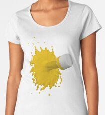 gelber Farbklecks Premium Rundhals-Shirt