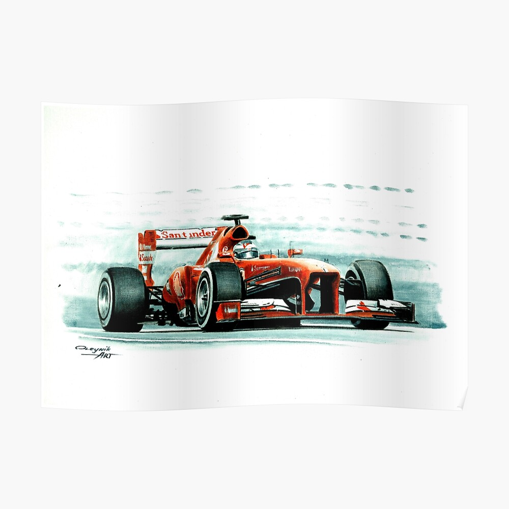 Ferrari F138. Fernando Alonso. 2013 Poster