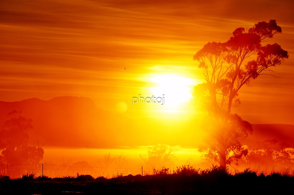photoj Tas, Northern Midlands, Sunrise by photoj