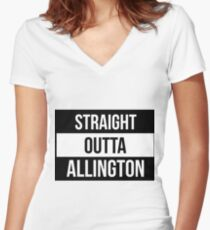 Straight Outta Allington Women's Fitted V-Neck T-Shirt