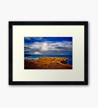 """At The Edge, In The Face Of A Storm"" Framed Print"