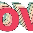 Retro Rainbow of Love by Pamela Maxwell