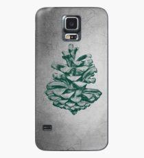 Grüner Kiefern-Kegel Hülle & Klebefolie für Samsung Galaxy