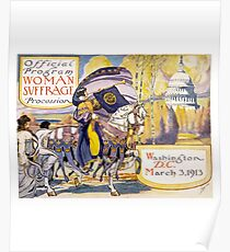 Stimmen für Frauen Circa 1913 - Frauen Wahlrecht Poster