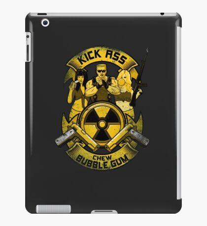 Kick Ass and Chew Bubble Gum! iPad Case/Skin