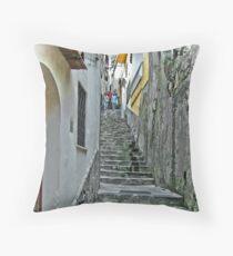 ... up ... and down .. ! :)  Positano, Amalfi Coast, Italy Throw Pillow