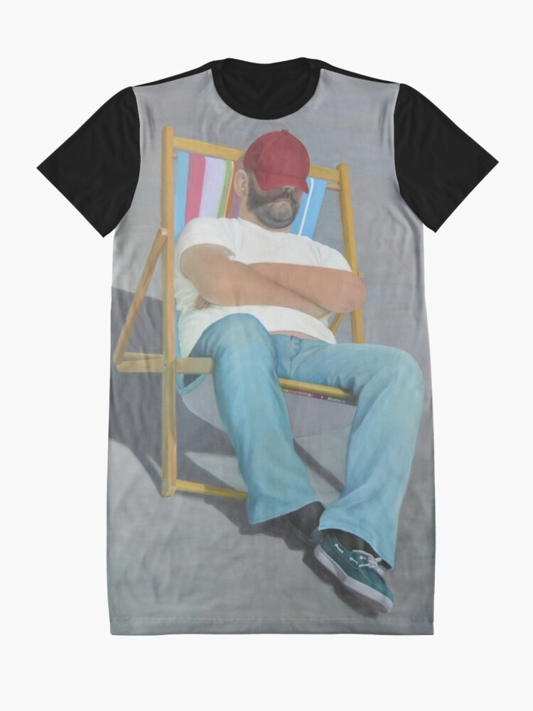 Alternate view of DOING NOTHING Graphic T-Shirt Dress