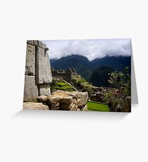 Ancient World of the Incas Greeting Card