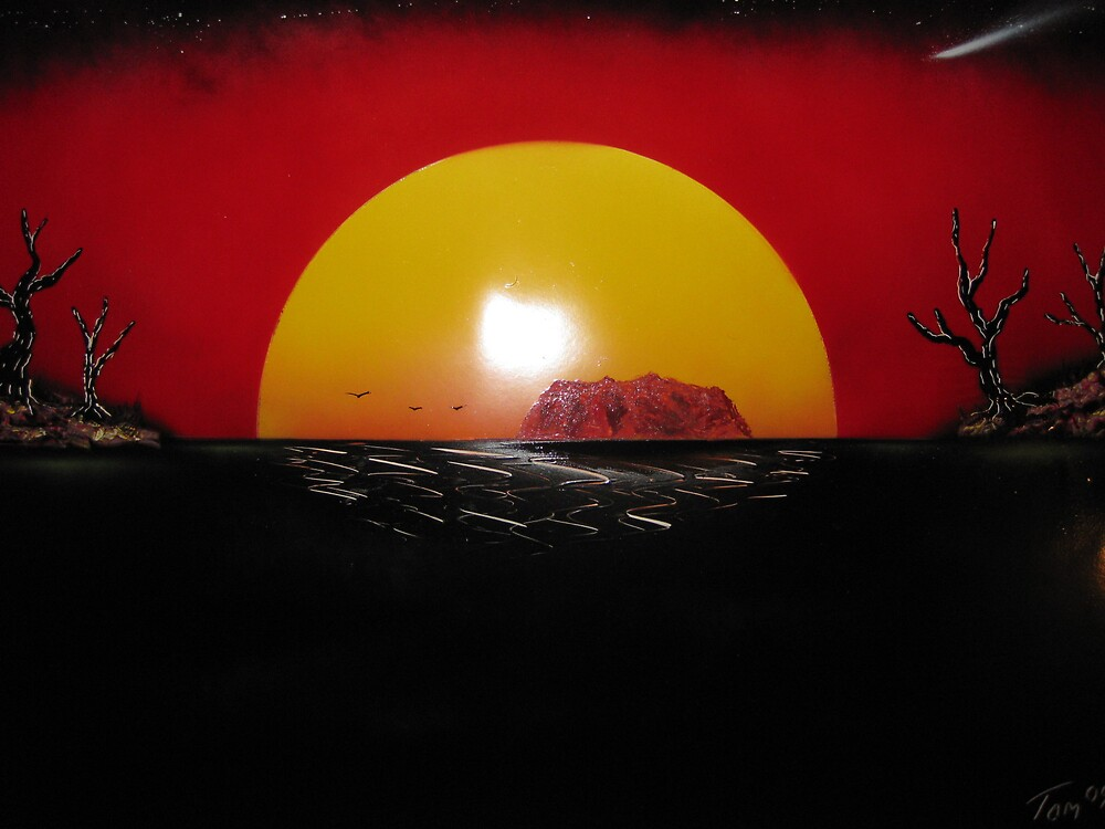 Uluru by Spacedoutart