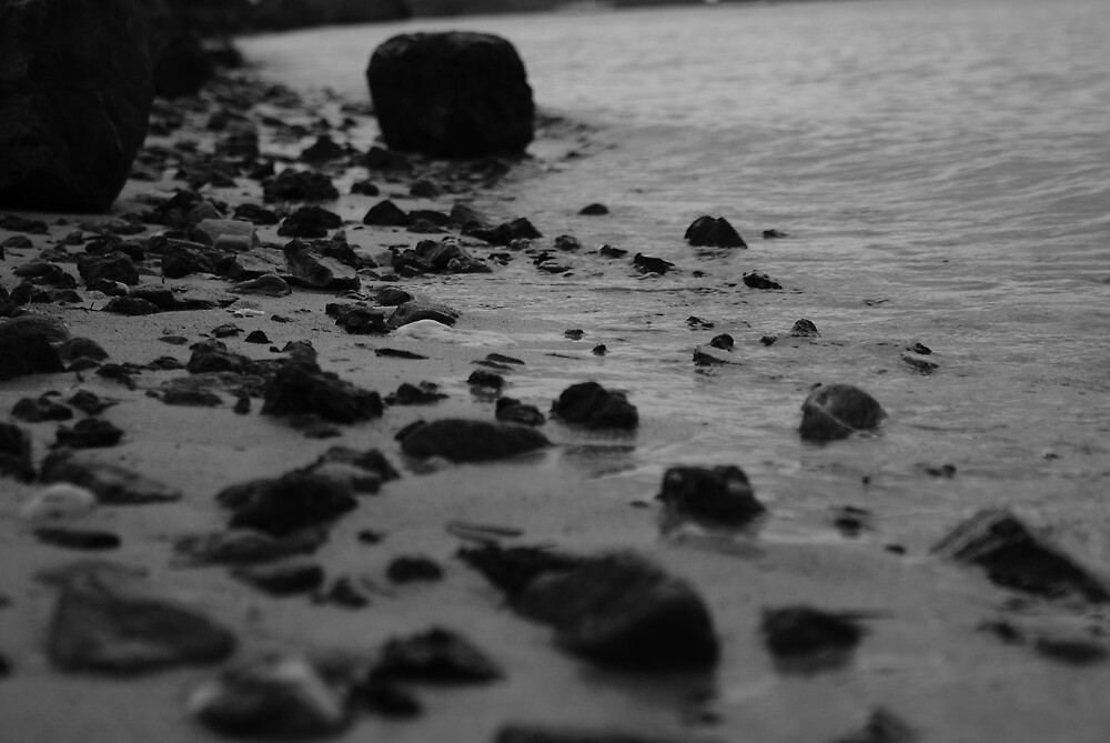 pebbles on the beach by ncmattson