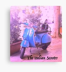 The Italian Scooter Canvas Print