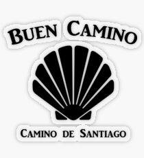 Buen Camino - Camino de Santiago Scallop Shell Transparent Sticker