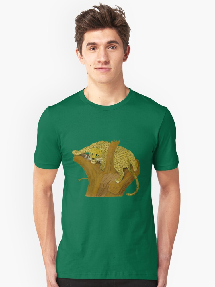 Leopard in Tree. Unisex T-Shirt Front