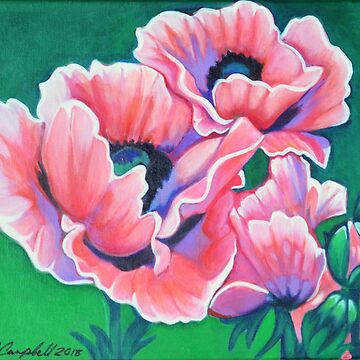 Pink Poppies by LottiDa
