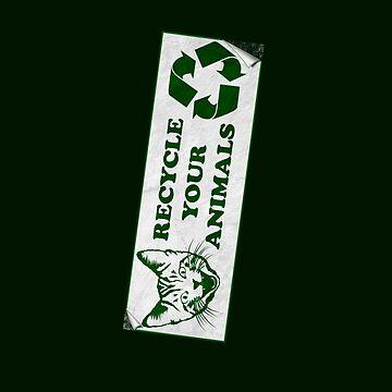 Recycle deine Tiere - Fight Club von RevolutionGFX