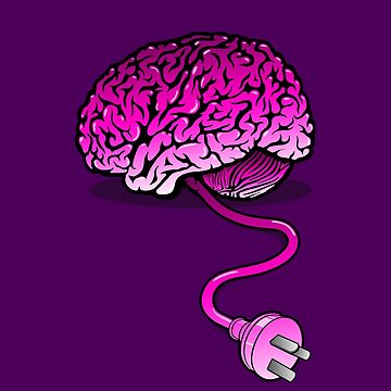 Dein Gehirn ohne Kaffee - Pink von RevolutionGFX