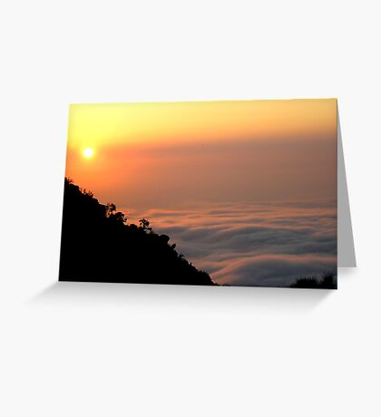 Falling into the Clouds Greeting Card