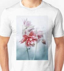 Red columbine flowers Unisex T-Shirt