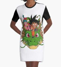 Kid Goku / Bulma / Shenron Graphic T-Shirt Dress
