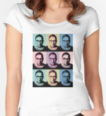 Notorious RBG - in muted colors Women's Fitted Scoop T-Shirt
