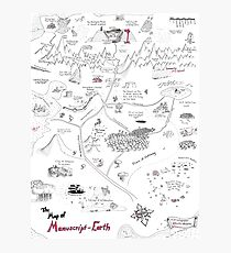 The Map of Manuscript Earth Photographic Print