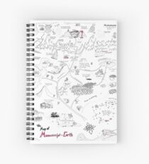 The Map of Manuscript Earth Spiral Notebook