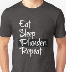 Sea of Thieves - Eat Sleep Plunder Repeat Unisex T-Shirt