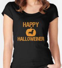 Happy Halloweiner Cute Happy Halloween Dachshund Owner Women's Fitted Scoop T-Shirt
