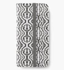 Black Coral Weaving by Margaret Juul iPhone Wallet/Case/Skin