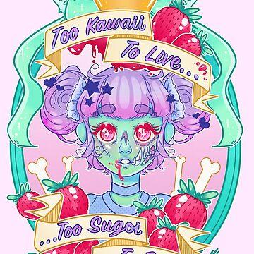 Erdbeer Zombie von deepfriedpaint