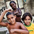 Rio de Janeiro, Favela Children 2009 by Tash  Menon