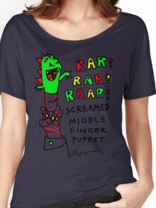 """""""Middle Finger Puppet"""" Women's Relaxed Fit T-Shirt"""