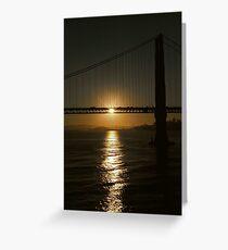 Sunrise, Golden Gate Bridge Greeting Card
