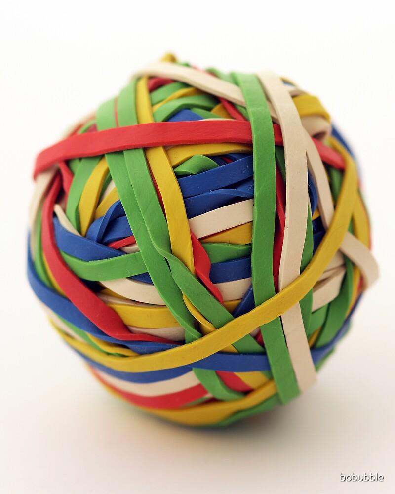 Rubber band ball by bobubble