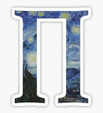 Starry Night Alphabet - Π Sticker