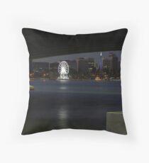 Perth Wheel Through Narrows Throw Pillow