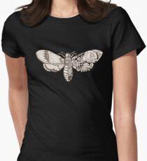 death head moth scifi Women's Fitted T-Shirt