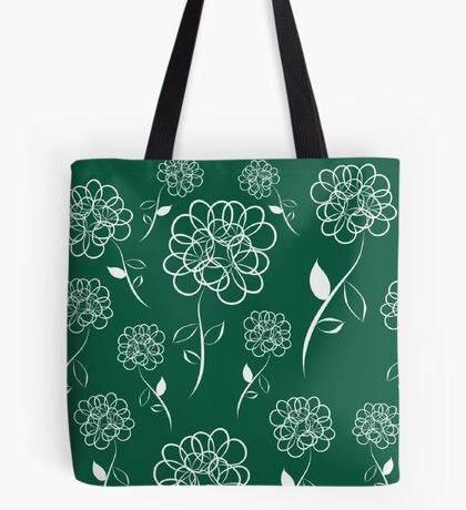 Black Dahlias Tote Bag