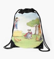 Girl in Cape Drawstring Bag