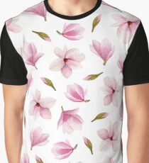 Watercolor magnolia blossoms  Graphic T-Shirt