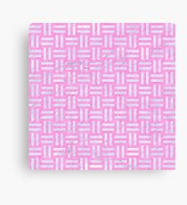 WOVEN1 WHITE MARBLE & PINK COLORED PENCIL Canvas Print