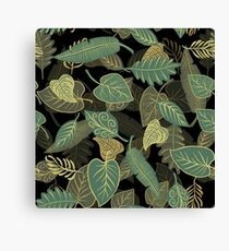Greenery Leaves Canvas Print