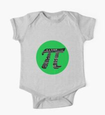 Pi Day graphic in green and black  One Piece - Short Sleeve