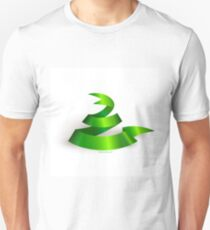 Green ribbon. Snake.  Unisex T-Shirt