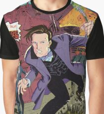 Doctor Who Comic Book Cover Graphic T-Shirt