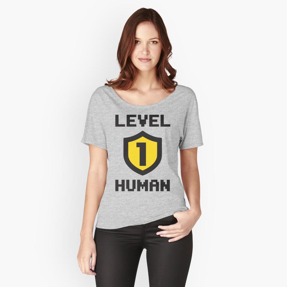Nivel 1 humano Camiseta ancha