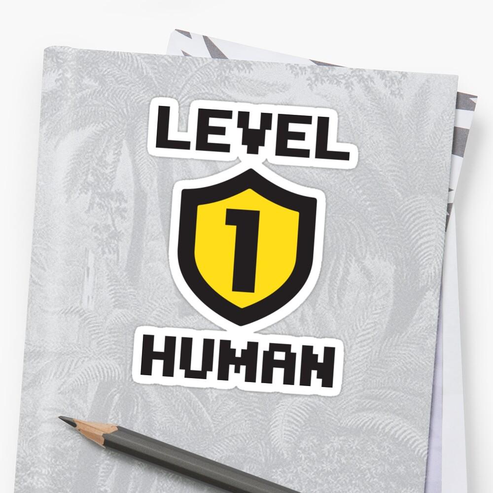Nivel 1 humano Pegatina