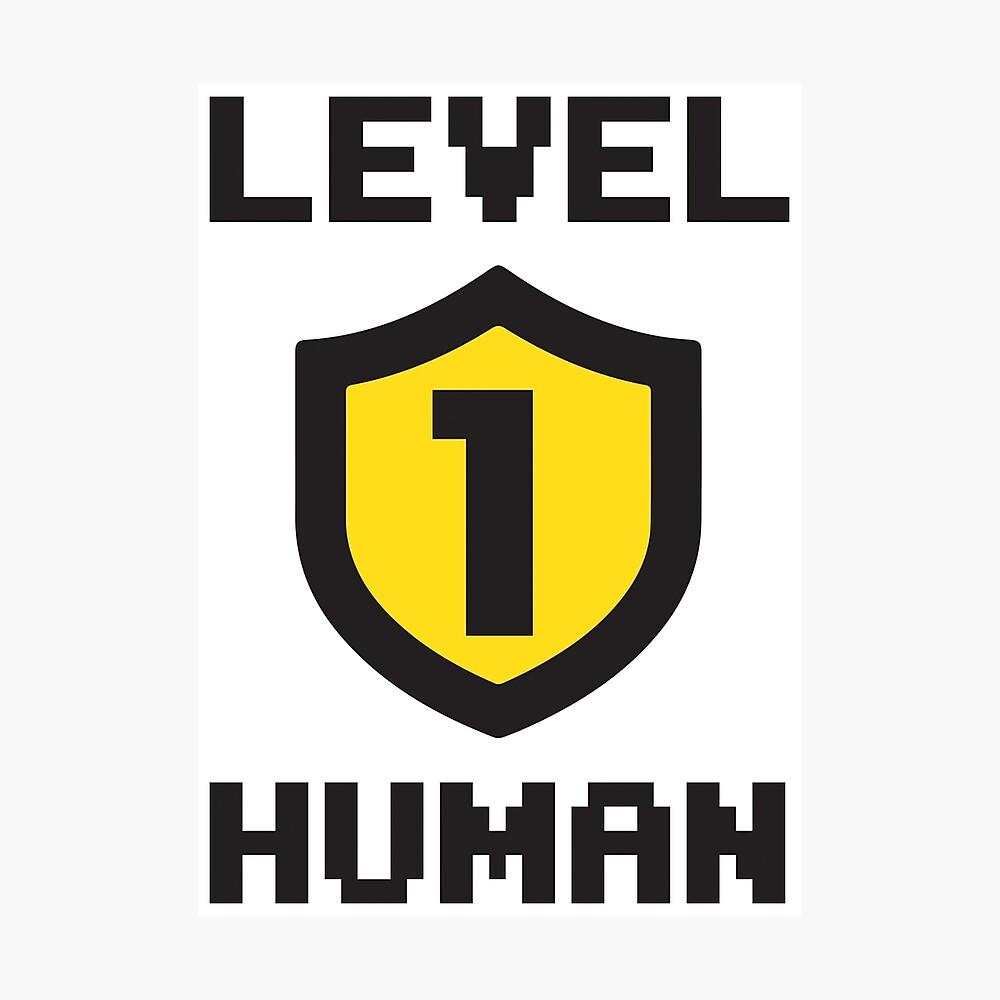 Nivel 1 humano Lámina fotográfica