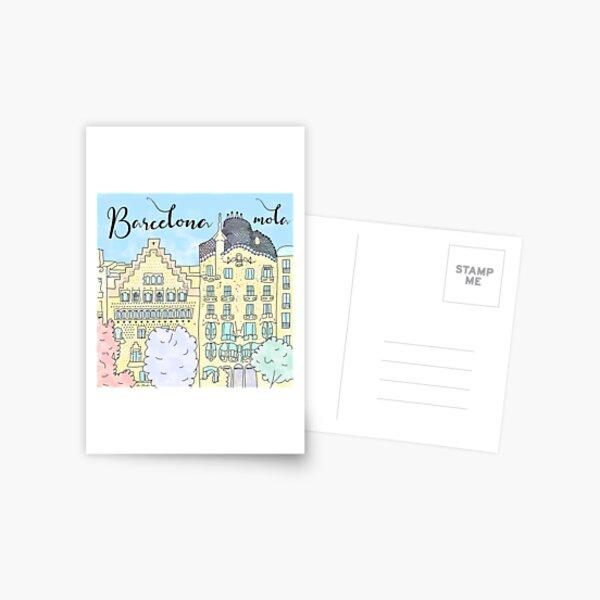 Barcelona mola by Alice Monber Postcard